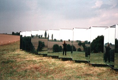 photo of the mirror installation